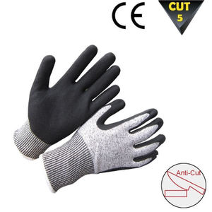 Cut resistant level 5 gloves HCR233