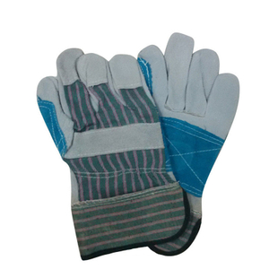 Double palm cow leather work gloves HLC865