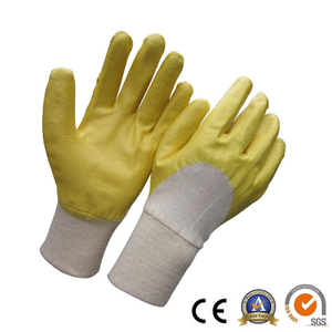 Hlaf dipped yellow nitrile gloves HCN400