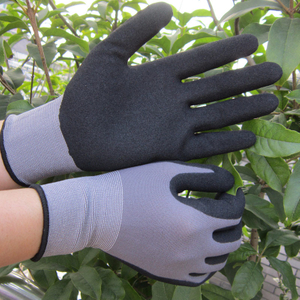 15 gauge sandy version nitrile coated gloves HNN457