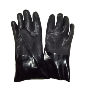 Black PVC gloves with double dipped