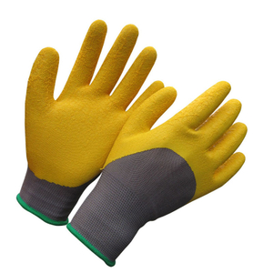 Half dipped latex glove HNL366