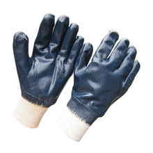 Jersey liner double dipped blue Nitrile gloves HCN420