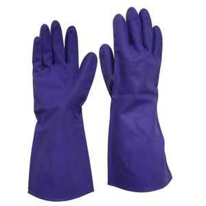 Unlined purple nitrile household kitchen gloves HHL515