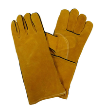 Reinforced golden cow leather welder gloves HLW619