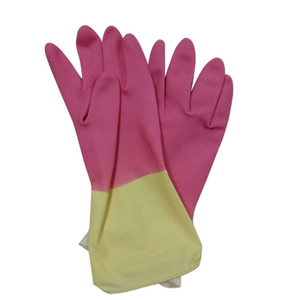 Double color latex household rubber gloves HHL508