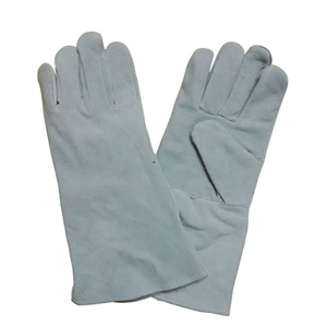 Flame resistant cow split leather welding gloves HLW610