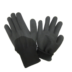Half dipped nitrile winter gloves HNN468