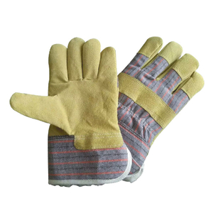 Leather work glove with fleece lining HLP570