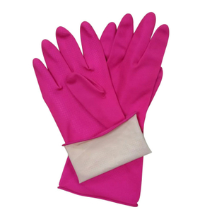 Pink latex kitchen gloves HHL504